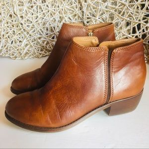 Antonio Melani Brown Leather Booties Size 6